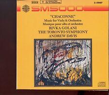 Chaconne / Rivka Golani - The Toronto Symphony - Andrew Davis