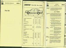 FIAT 132 GLS GL DAT Unterlagen Ersatzteile Ausstattung Preisliste 1979/80