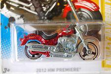 HARLEY DAVIDSON  FAT BOY  HOTWHEELS  MOTORCYCLE RED