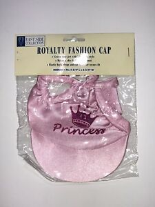 East Side Collection Pet Royalty Fashion Pink Dog Cap. Size Medium
