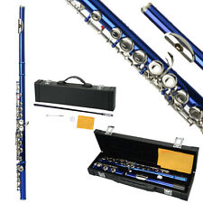 New School Student Band Blue 16 Hole C Flute for Beginner with Case
