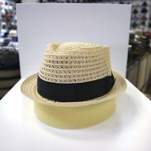 BILTMORE NATURAL COLOR  STINGY BRIM TRILBY DRESS HEMP HAT