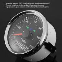 85mm 0-120MPH Waterproof GPS Speedometer Odometer Gauge for Car Boat Motorcycle