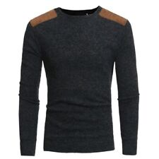 Mens Casual Tops Long sleeve Knitwear Sweater Jumper Slim Fit Crew Neck Pullover