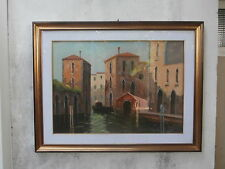 Quadro Olio su tela F. Tucci veduta  Venezia autentica 50 x 70 cm oil on canvas