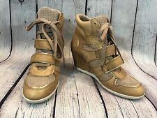 A.S.H Bixi Wedge Leather Shoe Sneaker Women's Size 39/8.5