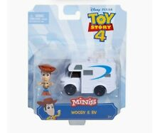 DISNEY PIXAR TOY STORY MINIS. WOODY AND RV. NEW W/ FREE SHIPPING