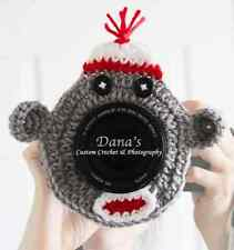 Sock Monkey Camera Lens Buddy, Photography, Children, Kids, Character