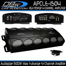 4-Channel Amplifier 1500W Max 4CH Fullrange Car Audio Amp Audiopipe APCLE-1504