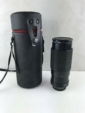 CPC 80-200mm Telephoto Zoom Lens & Cap With Case And Hoya 55mm UV Filter