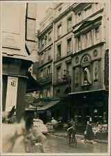 Paris, rue St Honoré Vintage silver print,c'est dans la maison Renaissanc