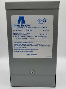 Acme Electric General Purpose Transformer T181052