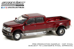 Greenlight Dually Drivers 2019 Ford F-350 Dually Ruby Red and Stone Gray 46070-F