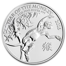 2016 Great Britain 1 oz Silver Year of the Monkey BU - SKU #93005