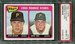 1965 Topps #143 J.Gelnar/Jerry May Rookie! PSA 8 NM-MT