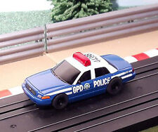 Micro Scalextric 1:64 Car - Batman GPD Gotham Police Department *FLASHING LIGHT*