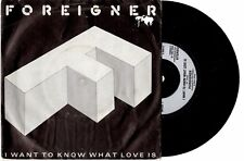 """FOREIGNER - I WANT TO KNOW WHAT LOVE IS - FRENCH 7""""45 VINYL RECORD PIC SLV 1984"""