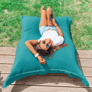 rucomfy Beanbags Squarbie Garden Bean Bag - Large Outdoor Lounger Indoor Chair