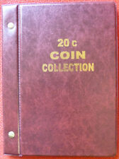 VST AUSTRALIAN COIN ALBUM for 20c COLLECTION 1966 to 2016 with MINTAGES PRINTED
