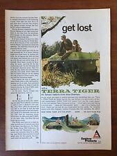 Vintage 1969 Original Print Ad TERRA TIGER ATV Allis-Chalmers Outdoor Products