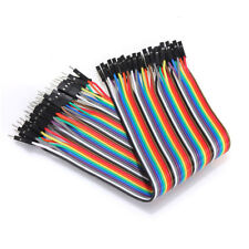 40Pcs Dupont Wire Jumper Cables 10cm Male To Female 1P-1P For Arduino