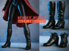 """1/6 Avengers Scarlet Witch Boots BLACK For 12"""" Hot Toys PHICEN Female Figure"""