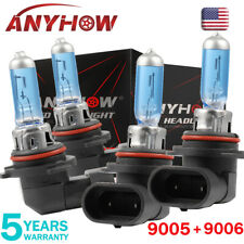 Combo 9005+9006 Xenon Hid Headlight 6000K Halogen Bulbs High/Low Beam White (Fits: Dodge Intrepid)