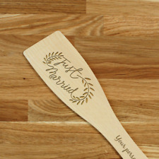 Engraved Personalized wooden SPATULA Wedding Bridal laser cut with any design!