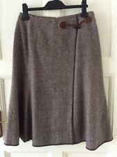 9e4a73af73 HIRSCH Brown Tweed A-Line Skirt Size 38 10