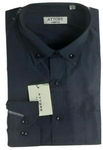 Camicia uomo Colore Blu Collo Button Down classica attore manica lunga art 333