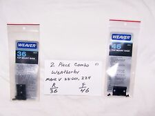 Weaver Scope Mount Combo - fits Weatherby Mark V 22-250, 224 - 36/46  (NOS)