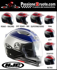Casco helmet capacete casque helm Hjc Is-multi Tociti White blu Mc2