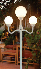 Outdoor 3-globe street lamp for patio, porch, deck, yard