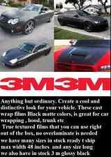 "12"" x 6 ft  Black Matte 3M Graphic Vinyl Film Sheet Car  Wrap Original 3M"