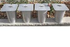 Set of 4 MAPLE SYRUP Aluminium Sap BUCKETS + Lids Covers + Taps Spouts Spiles