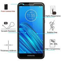 For Motorola Moto E6 Premium Shockproof Screen Protector Guard Tempered Glass 9H