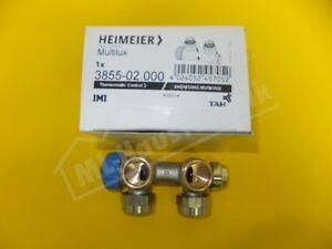 """3855-02.000 Heimeier Multilux 1-Rohr-Thermostat- Ventilunterteil DN 20 1/2"""" eck"""