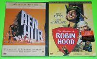 Classic DVD Lot - Ben-Hur (New) The Adventures of Robin Hood (New)