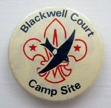 VINTAGE BLACKWELL COURT CAMP SITE BOY SCOUT THE SCOUTS PIN BADGE BUTTON