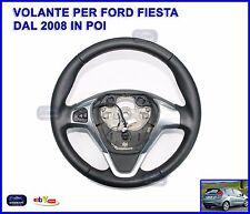 Volante per Ford Fiesta dal 2008 in poi Ricambio Sterzo in Pelle Nero Comandi