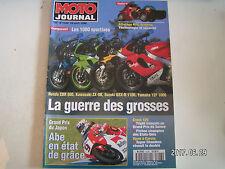 ** Moto Journal n°1228 Honda 900 CBR / Kawasaki ZX 9R / Suzuki 1100 GSX R