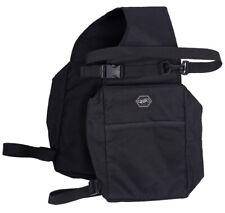 Doppelpacktasche QHP Polyester Satteltasche wasserabweisend, schwarz