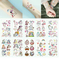 10SHEETs Kids Boys Girls Unicorn Temporary Tattoos Sticker Party Bag Fillers