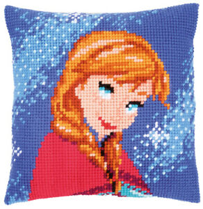 """Anna from Frozen Chunky Cross Stitch Cushion Front Kit 16 x 16"""" from Disney"""