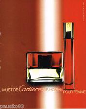 PUBLICITE ADVERTISING 075  2002  LES MUST de CARTIER  parfum pour homme & femme