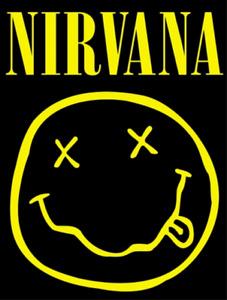 Nirvana - Smiley Face Logo Sticker
