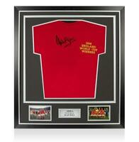 Alan Ball Front Signed England 1966 Shirt In Classic Frame: FIFA World Cup Winne