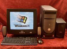 VINTAGE Dell Pentium 4 Windows 98se + XP Gaming SVIDEO COMPLETE DESKTOP SYSTEM