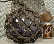 Vintage Glass Fishing Float In Purple