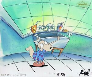ROCKO'S MODERN LIFE ORIGINAL 1990'S PAINTED PRODUCTION CEL SPUNKY
